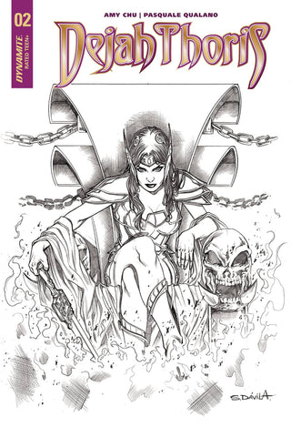 Dejah Thoris #2 1/20 Copy Sergio Davila Black & White Variant
