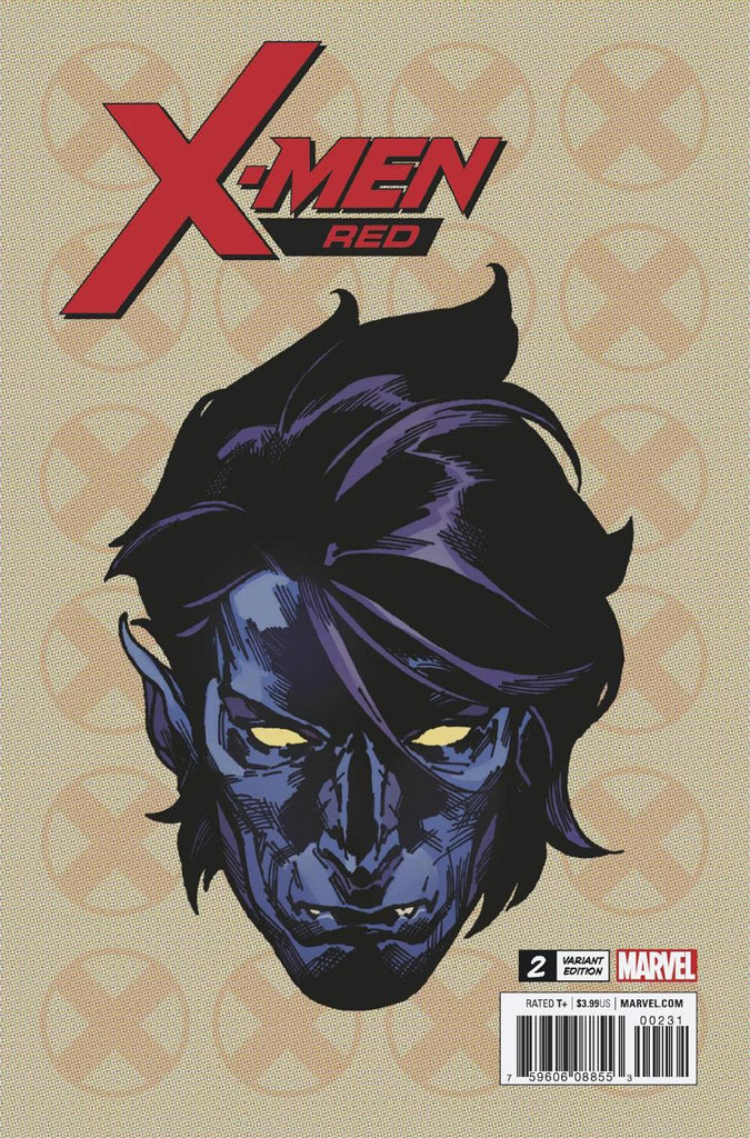 X-Men Red #2 1/10 Travis Charest Nightcrawler Headshot Variant