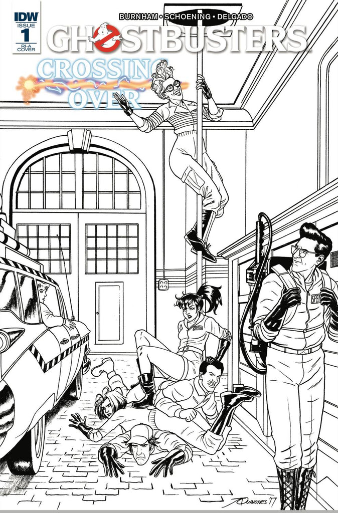 Ghostbusters Crossing Over #1 1/10 Black & White Variant