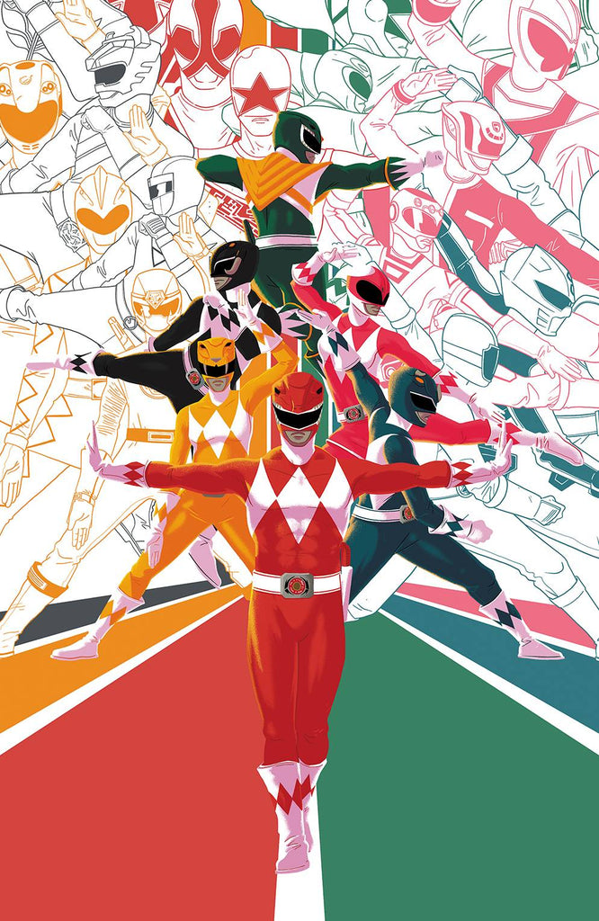 Mighty Morphin Power Rangers 2018 Annual #1 1/25 Matt Taylor Virgin Art Variant