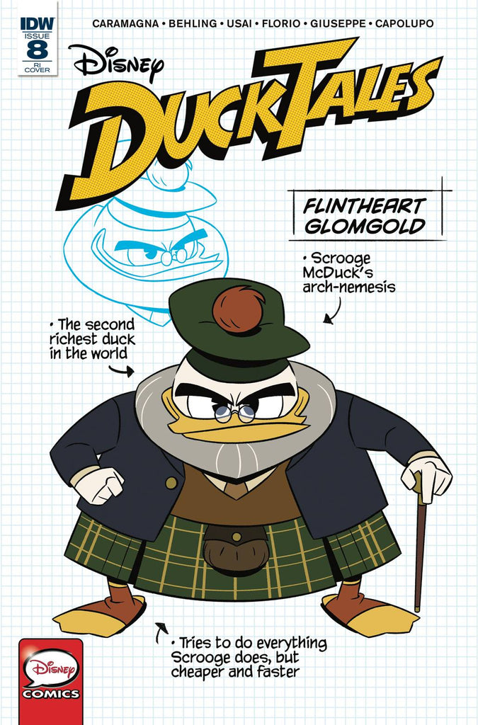 Disney DuckTales #8 1/10 Flintheart Glomgold Blueprint Character Variant