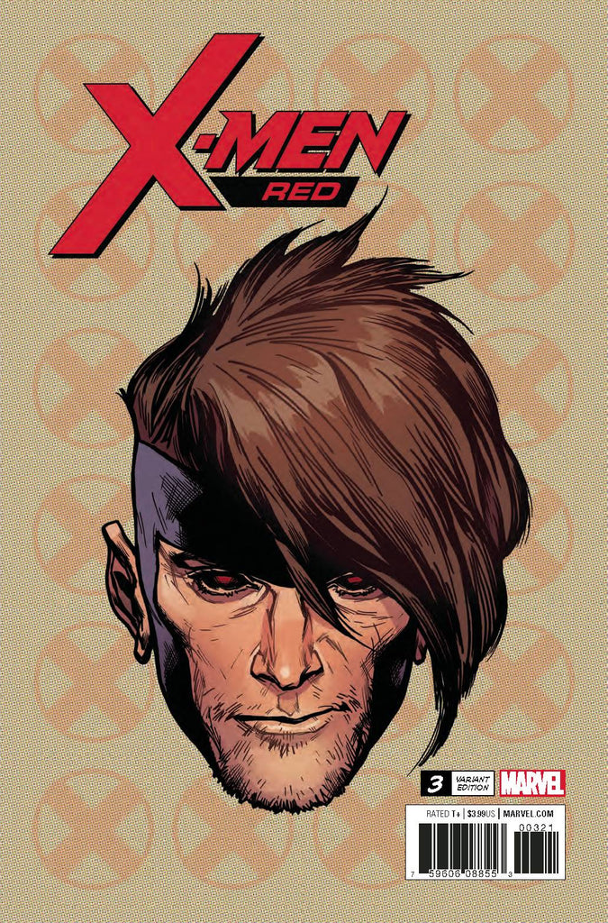 X-Men Red #3 1/10 Travis Charest Gambit Headshot Variant