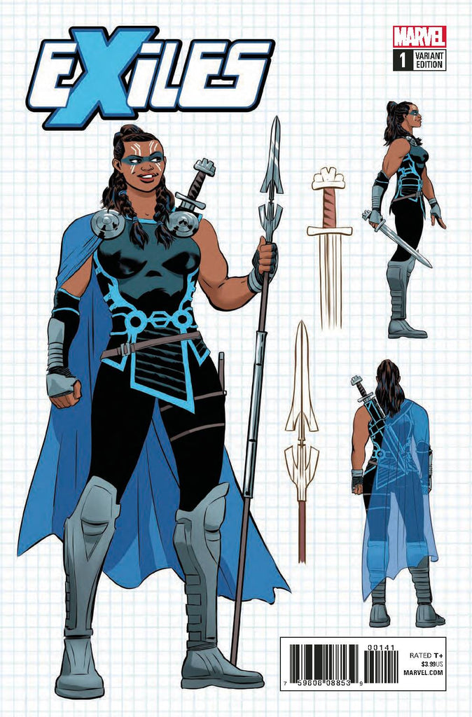 Exiles #1 1/10 Javier Rodriguez Valkyrie Design Variant