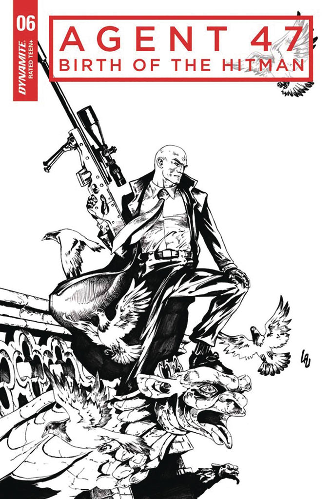 Agent 47 Birth of the Hitman #6 1/10 Jonathan Lau Black & White Variant