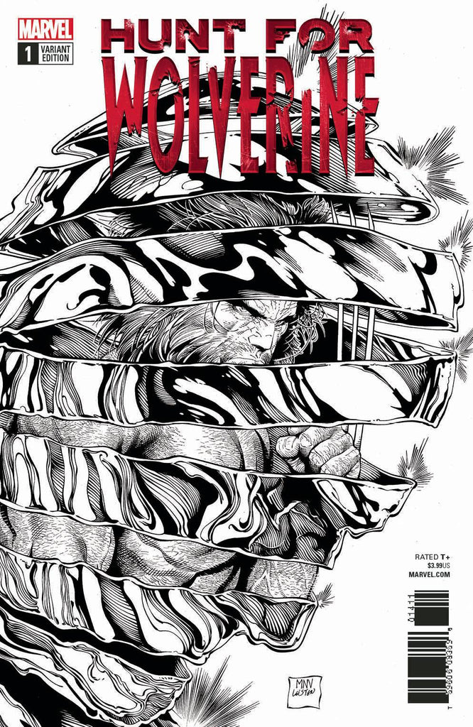 Hunt For Wolverine #1 1/50 Steve McNiven Black & White Variant