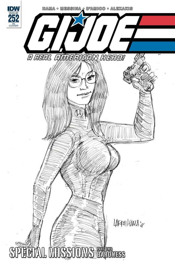 GI Joe A Real American Hero #252 1/10 Larry Hama Sketch Variant