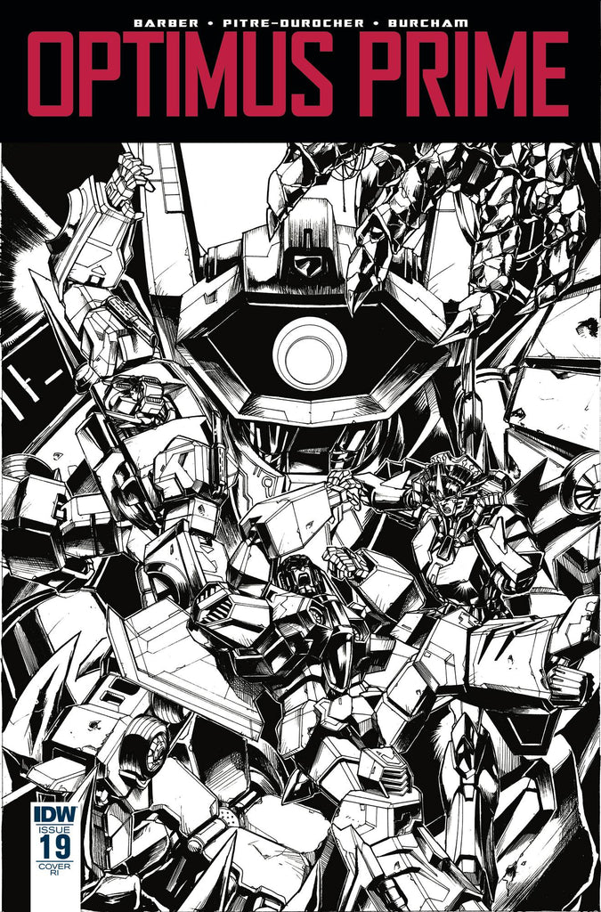 Optimus Prime #19 1/10 Kei Zama Black & White Variant