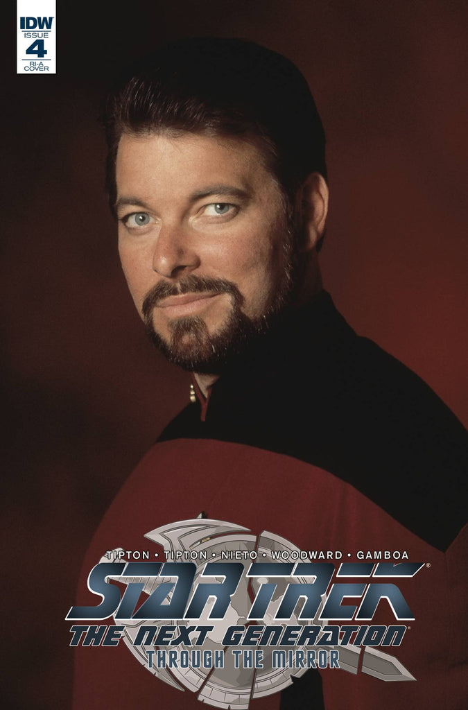 Star Trek The Next Generation Through The Mirror #4 1/10 Jonathan Frakes Riker Photo Variant