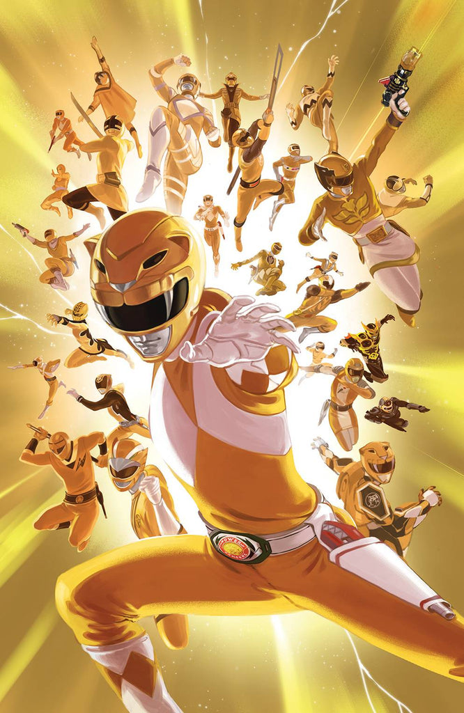 Mighty Morphin Power Rangers #28 1/25 Carlos Villa Yellow Ranger Variant