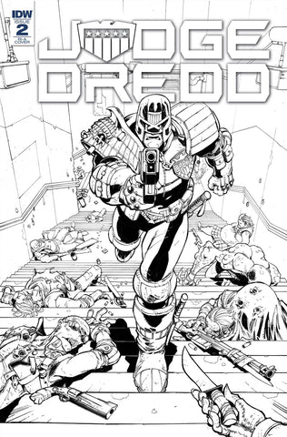 Judge Dredd Under Siege #2 1/10 Max Dunbar Black & White Variant