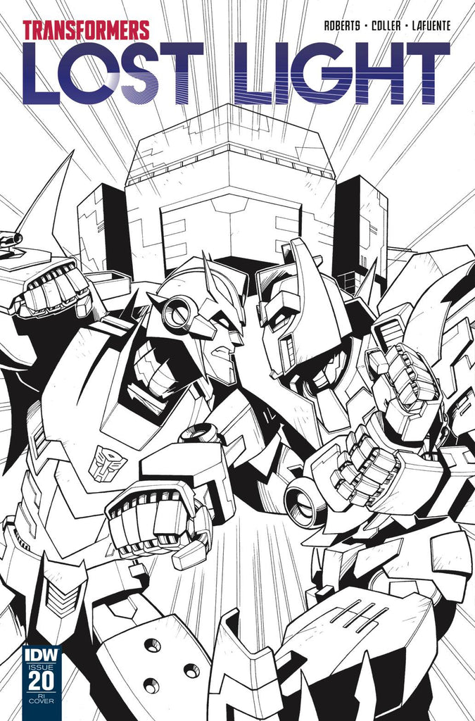 Transformers Lost Light #20 1/10 Jack Lawrence Black & White Variant