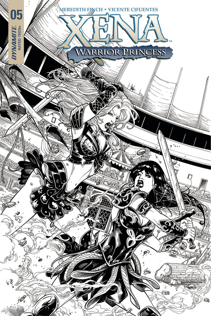Xena #5 1/20 Vicente Cifuentes Black & White Variant