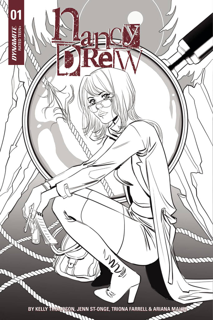 Nancy Drew #1 1/10 Marguerite Sauvage Black & White Variant