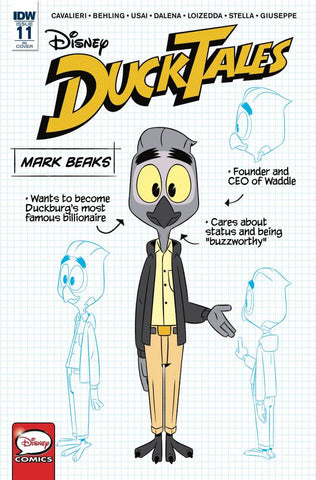 Disney DuckTales #11 1/10 Mark Beaks Blueprint Character Variant