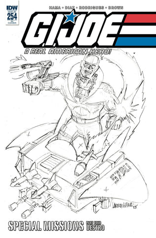 GI Joe A Real American Hero #254 1/10 Larry Hama Destro Sketch Variant