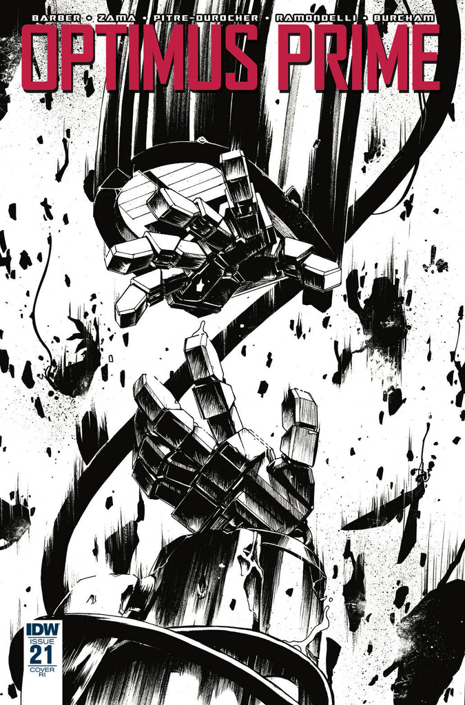 Optimus Prime #21 1/10 Kei Zama Black & White Variant