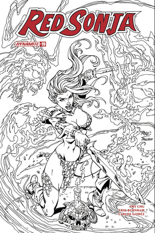 Red Sonja #19 1/10 John Royle Black & White Variant