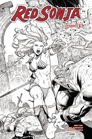 Red Sonja #19 1/20 Sean Chen Sketch Variant