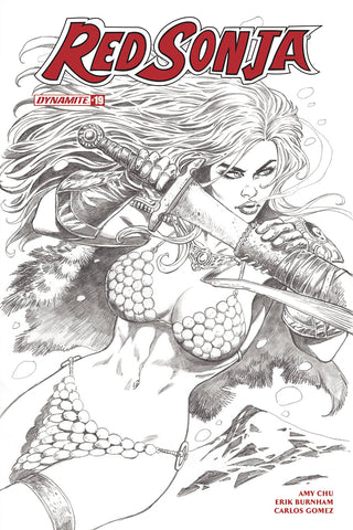 Red Sonja #19 1/30 Jan Duursema Sketch Variant