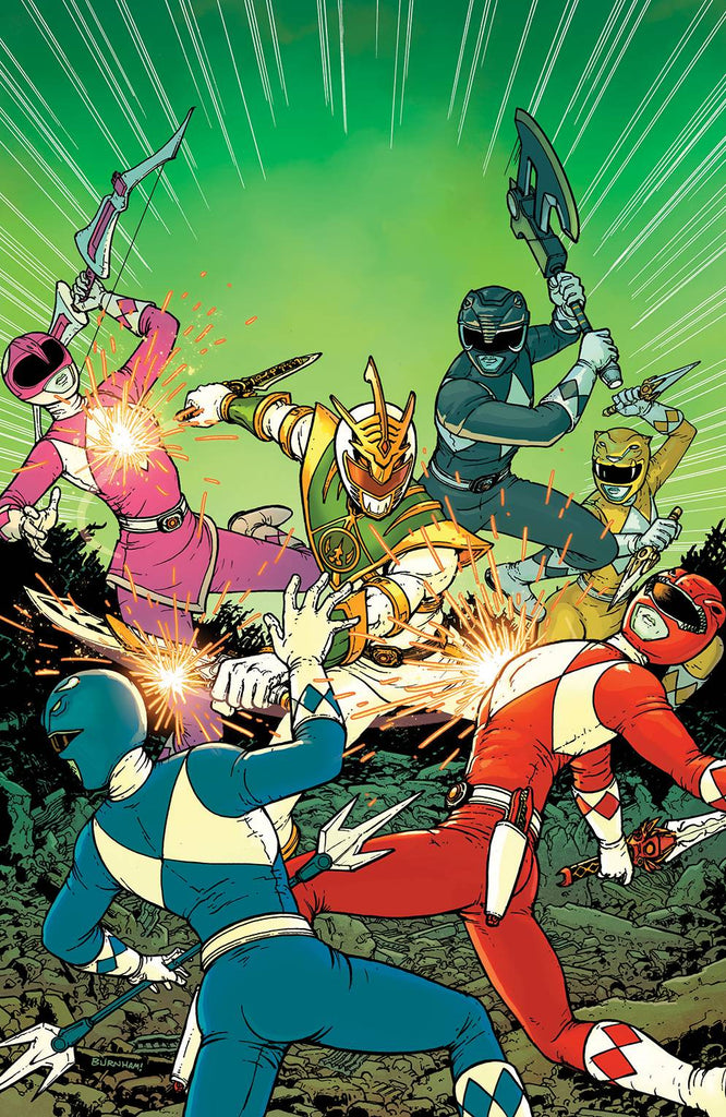 Mighty Morphin Power Rangers Shattered Grid #1 1/10 Chris Burnham Virgin Art Variant