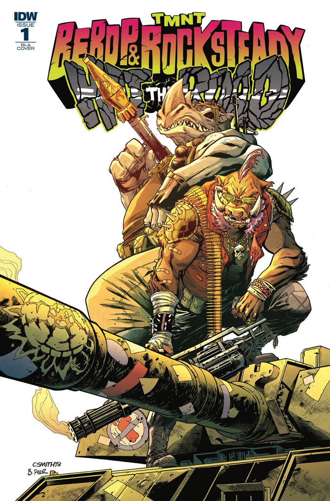 Teenage Mutant Ninija Turtles Bebop & Rocksteady Hit The Road #1 1/10 Cory Smith Variant