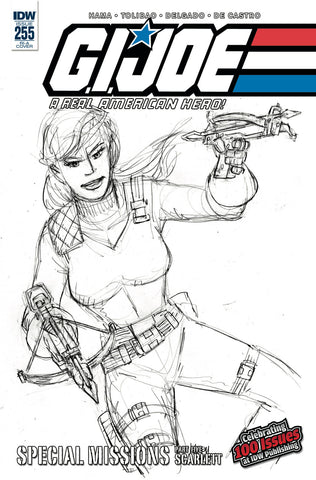 GI Joe A Real American Hero #255 1/10 Larry Hama Scarlett Sketch Variant