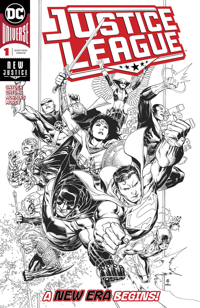 Justice League #1 1/100 Jim Chueng Black & White Variant