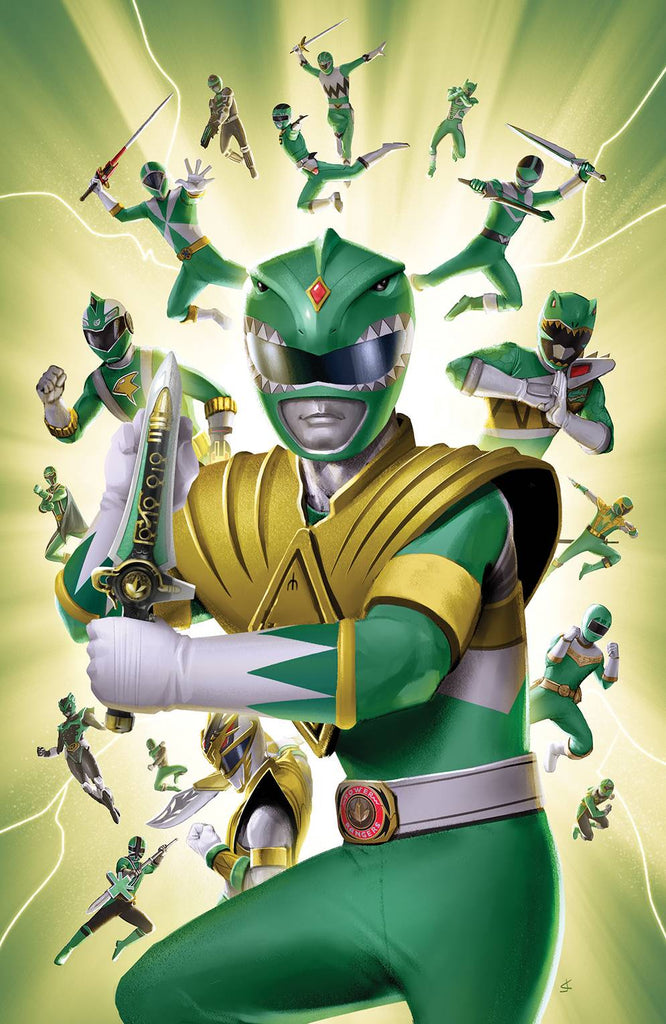 Mighty Morphin Power Rangers #31 1/25 Joana Lafuente Green Ranger Virgin Art Variant