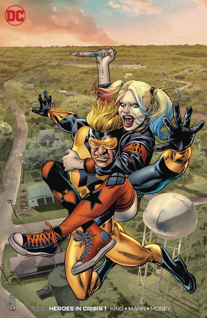 Heroes In Crisis #1 1/50 J. G. Jones Harley Quinn Booster Gold Variant