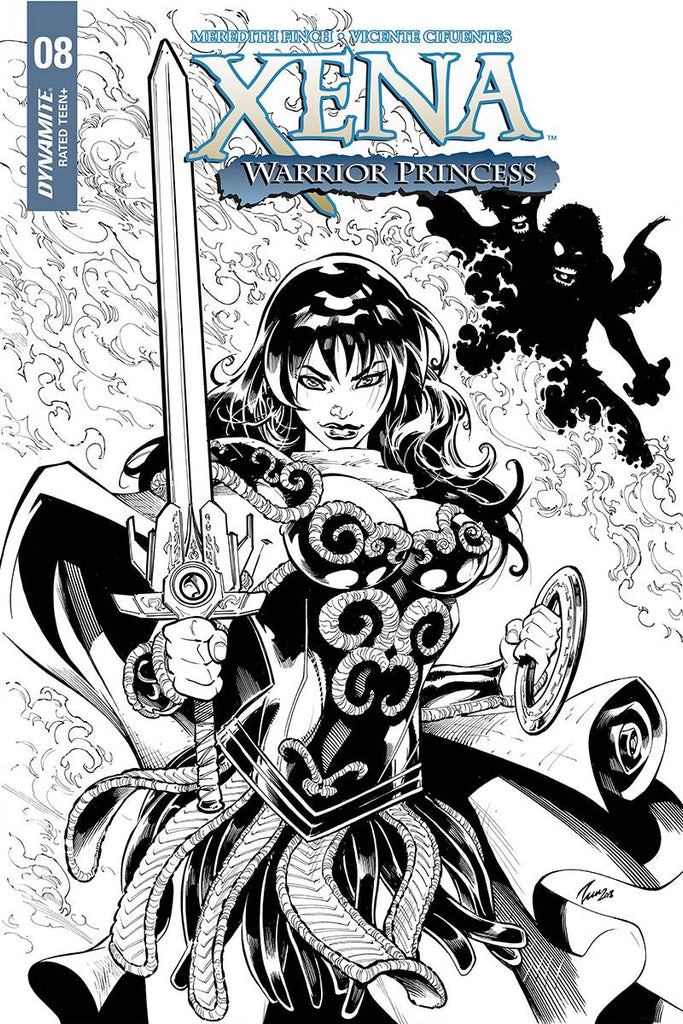 Xena #8 1/10 Vicente Cifuentes Black & White Variant