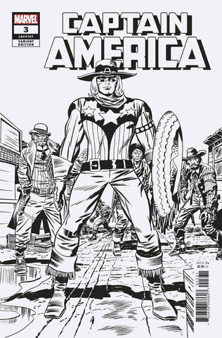 Captain America #3 1/100 Jack Kirby Remastered Black & White Variant