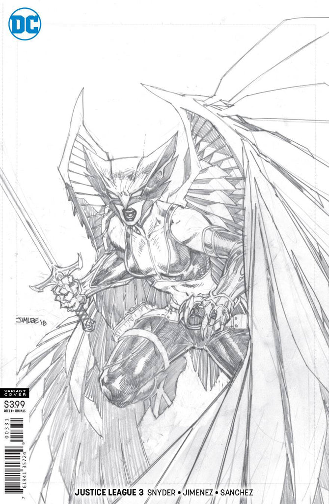 Justice League 3 1 100 Jim Lee Hawkgirl Sketch Variant Coliseum Of Comics Find great deals on ebay for justice league sketch. justice league 3 1 100 jim lee hawkgirl sketch variant