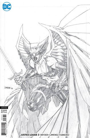 Justice League #3 1/100 Jim Lee Hawkgirl Sketch Variant