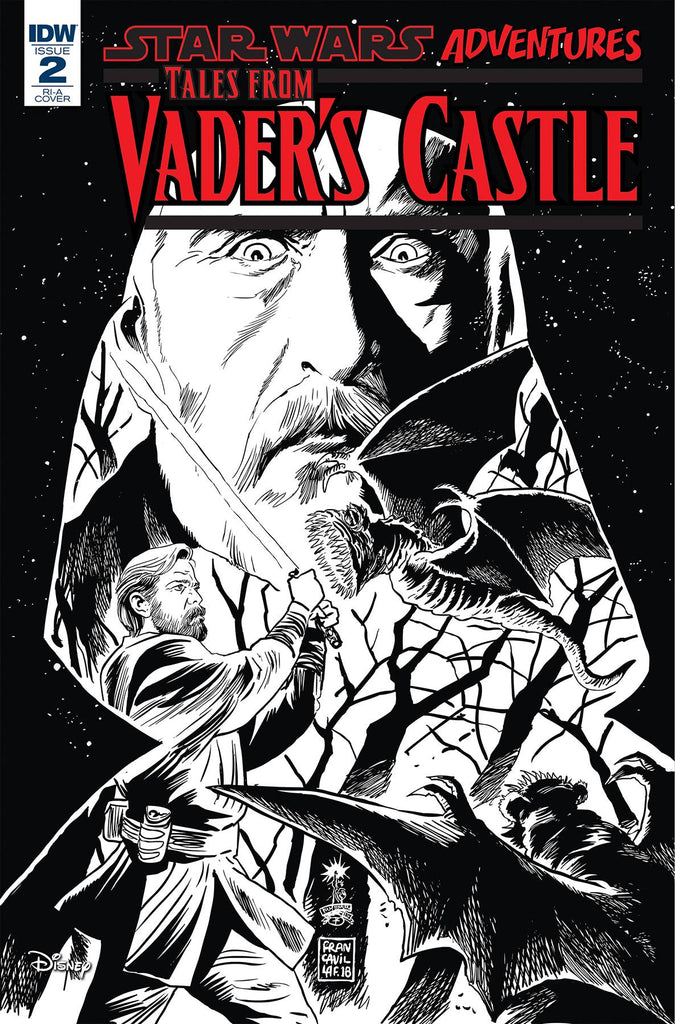 Star Wars Adventures Tales From Vader's Castle #2 1/10 Francesco Francavilla Black & White Variant