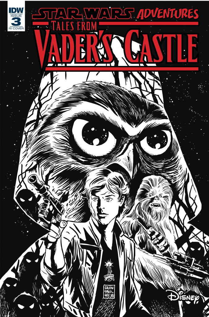 Star Wars Adventures Tales From Vader's Castle #3 1/10 Francesco Francavilla Black & White Variant