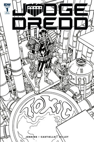 Judge Dredd Toxic #1 1/10 Mark Buckingham Black & White Variant