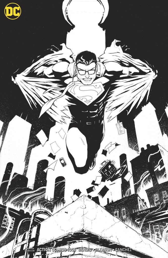 Action Comics #1001 1/100 Patrick Gleason Black & White Variant