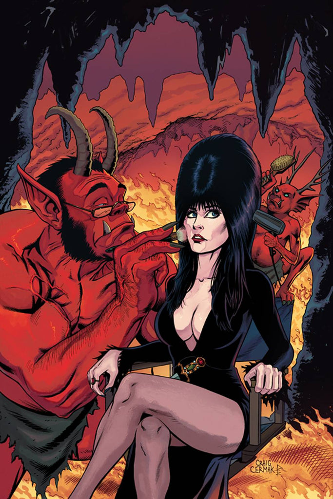 Elvira Mistress of the Dark #5 1/10 Craig Cermak Virgin Art Variant