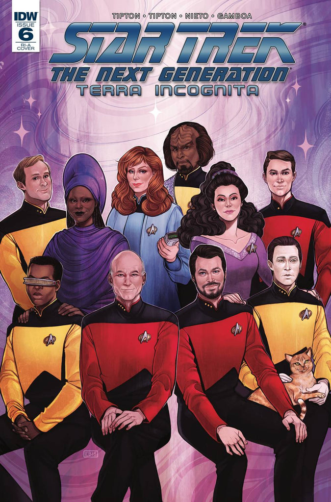 Star Trek The Next Generation Terra Incognita #6 1/10 Elizabeth Beals Crew Portrait Variant
