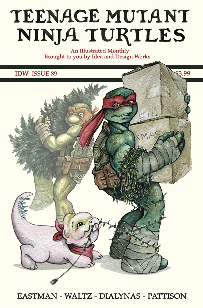 Teenage Mutant Ninja Turtles #89 1/10 Jody Edwards Saturday Evening Post Christmas Variant