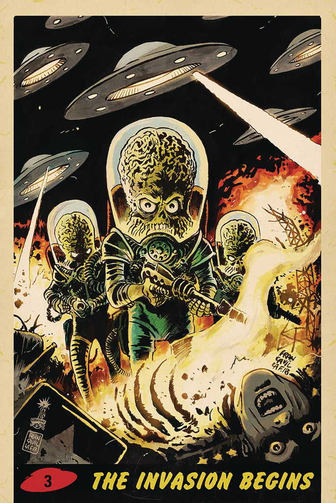 Mars Attacks #3 1/10 Francesco Francavilla Virgin Art Trading Card Variant