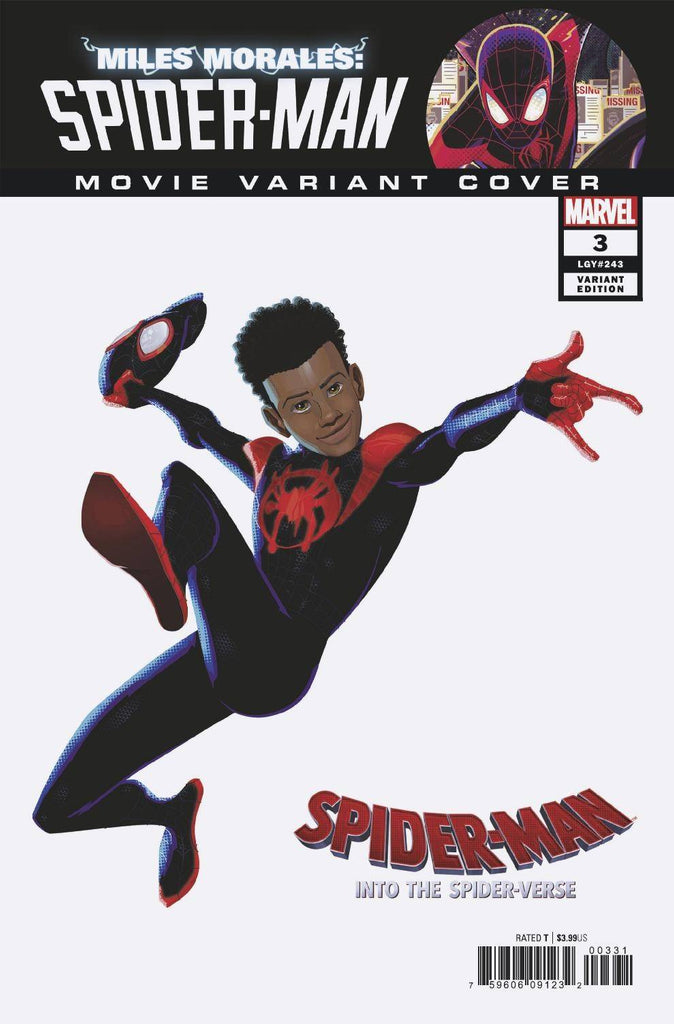 Miles Morales Spider-Man #3 1/10 Spider-Man Into The Spider-Verse Movie Variant