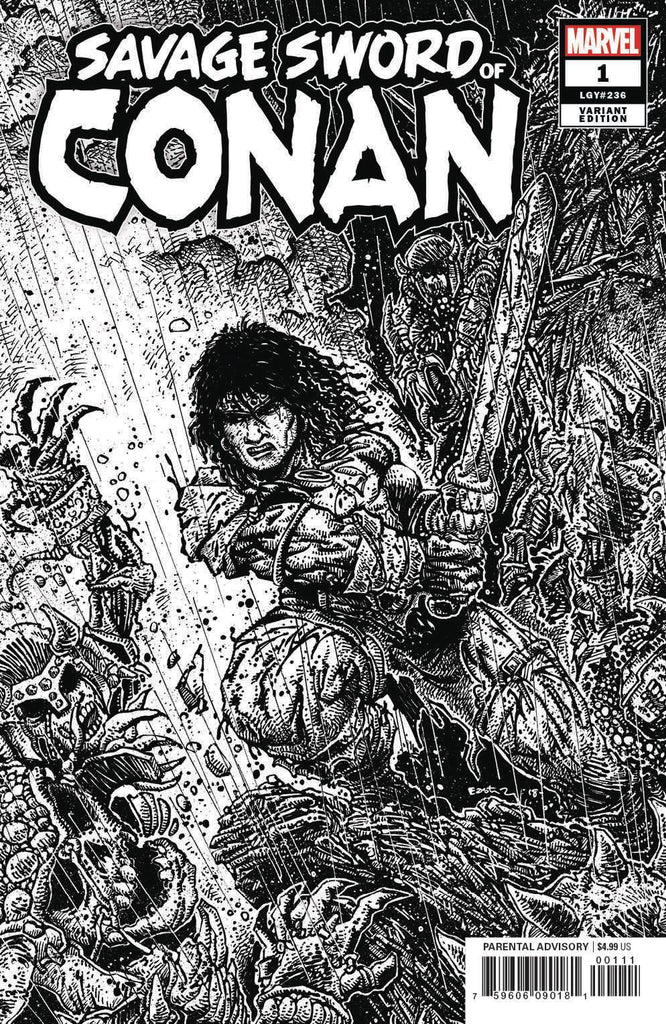 Savage Sword of Conan #1 1/50 Kevin Eastman Black & White Variant