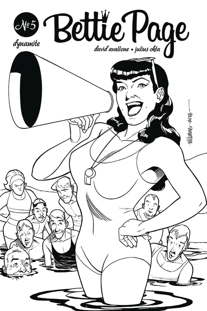 Bettie Page #5 1/20 David Williams Black & White Variant
