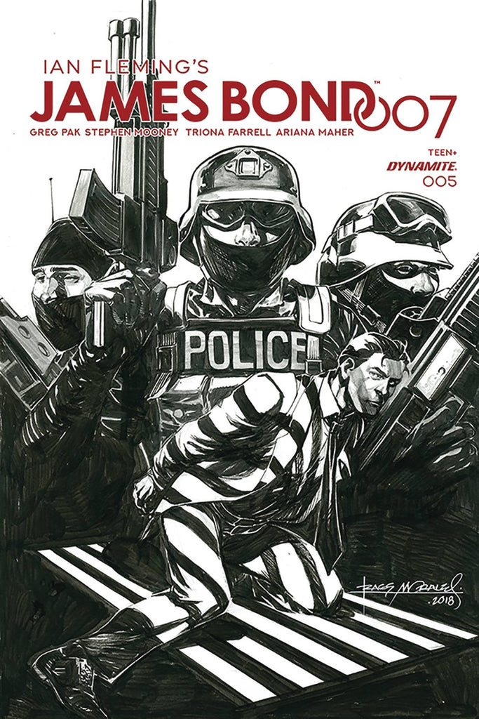 James Bond 007 #5 1/30 Rags Morales Black & White Variant