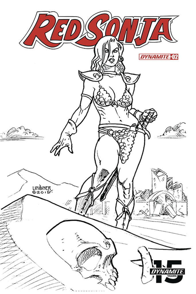 Red Sonja #2 1/30 Joseph Michael Linsner Black & White Variant