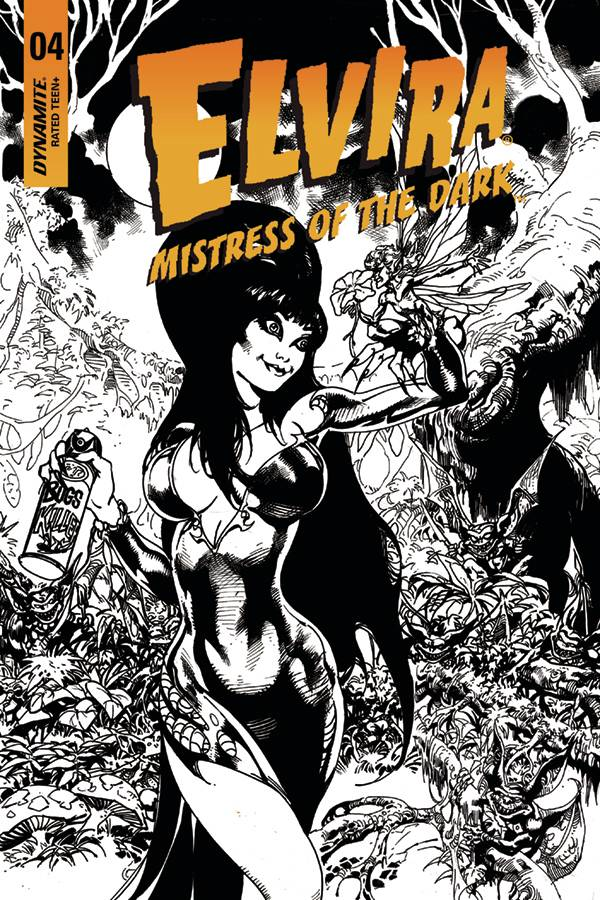 Elvira, Mistress of the Dark #4 1/15 Roberto Castro Black & White Variant