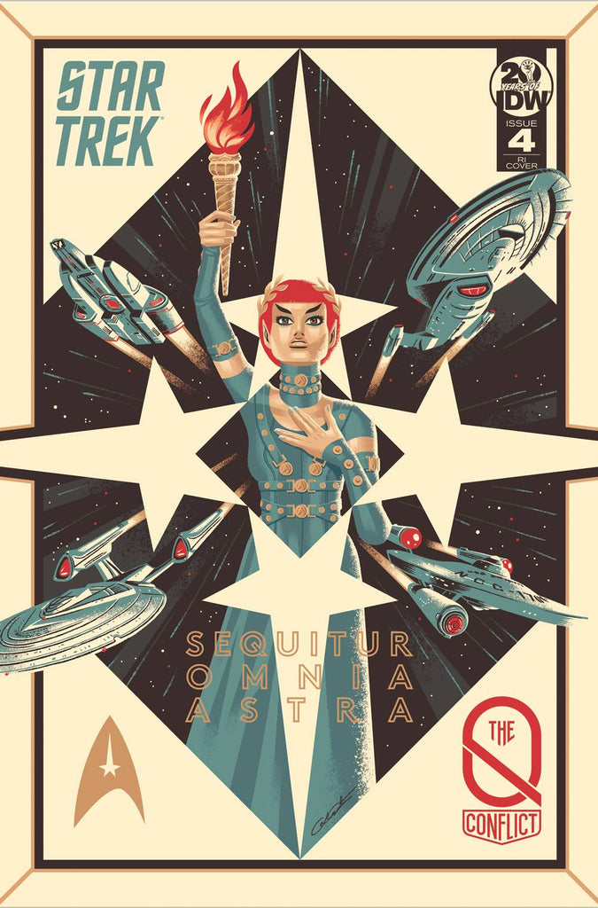 Star Trek The Q Conflict #4 1/10 George Caltsoudas Variant