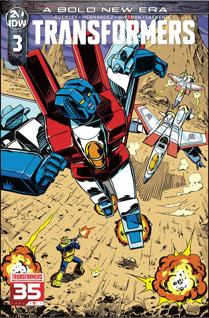 Transformers #3 1/10 Guido Guidi 35th Anniversary Variant