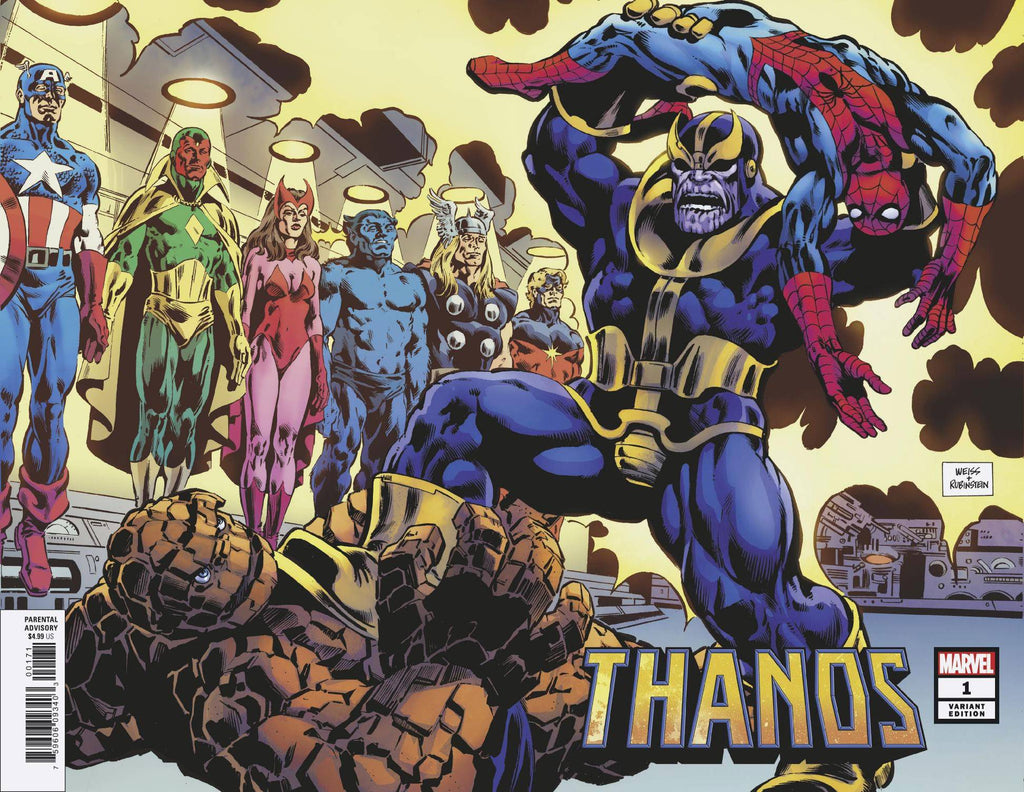 Thanos #1 1/100 Alan Weiss Wraparound Hidden Gem Variant